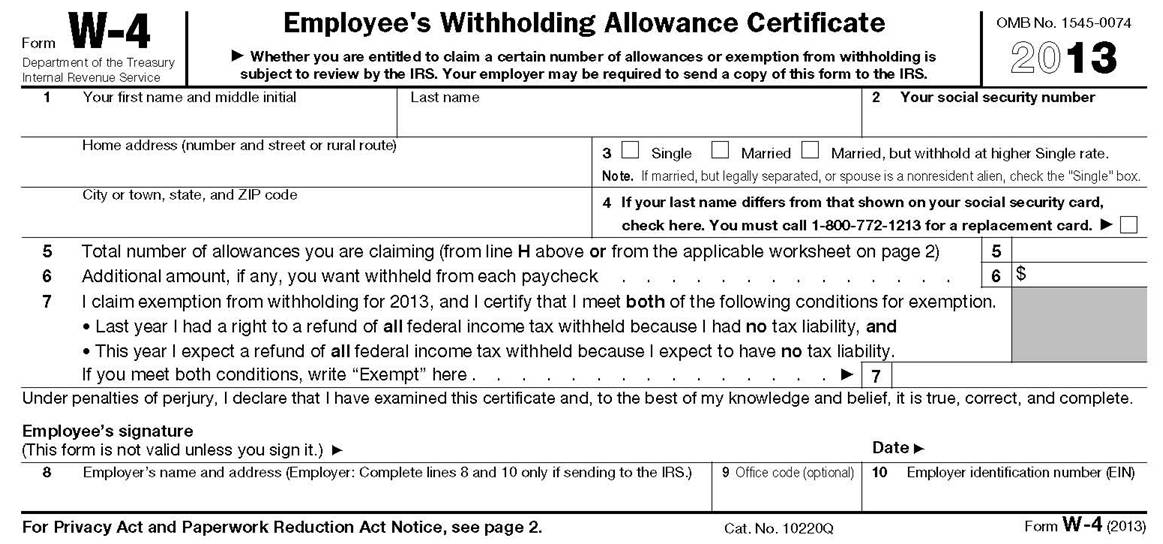 Adjust Your Payroll Withholding with Form W4 Accounting – Personal Allowances Worksheet